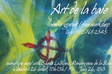 Sheila LeBlanc - Art de la baie le 26 juillet poster copy