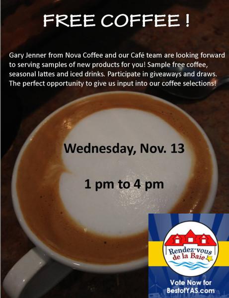 Free coffee poster Nov 13