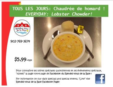 affiche lobster chowder